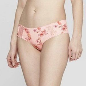 Womens Laser Cut Cheeky with Lace Auden Pink MED